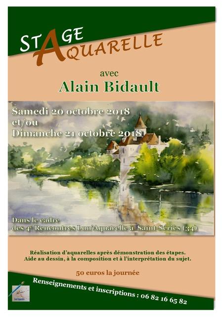 2018 - Stage d'aquarelle Alain Bidault