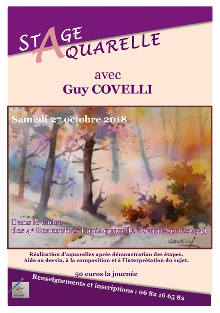 2018 - Stage d'aquarelle Guy COVELLI